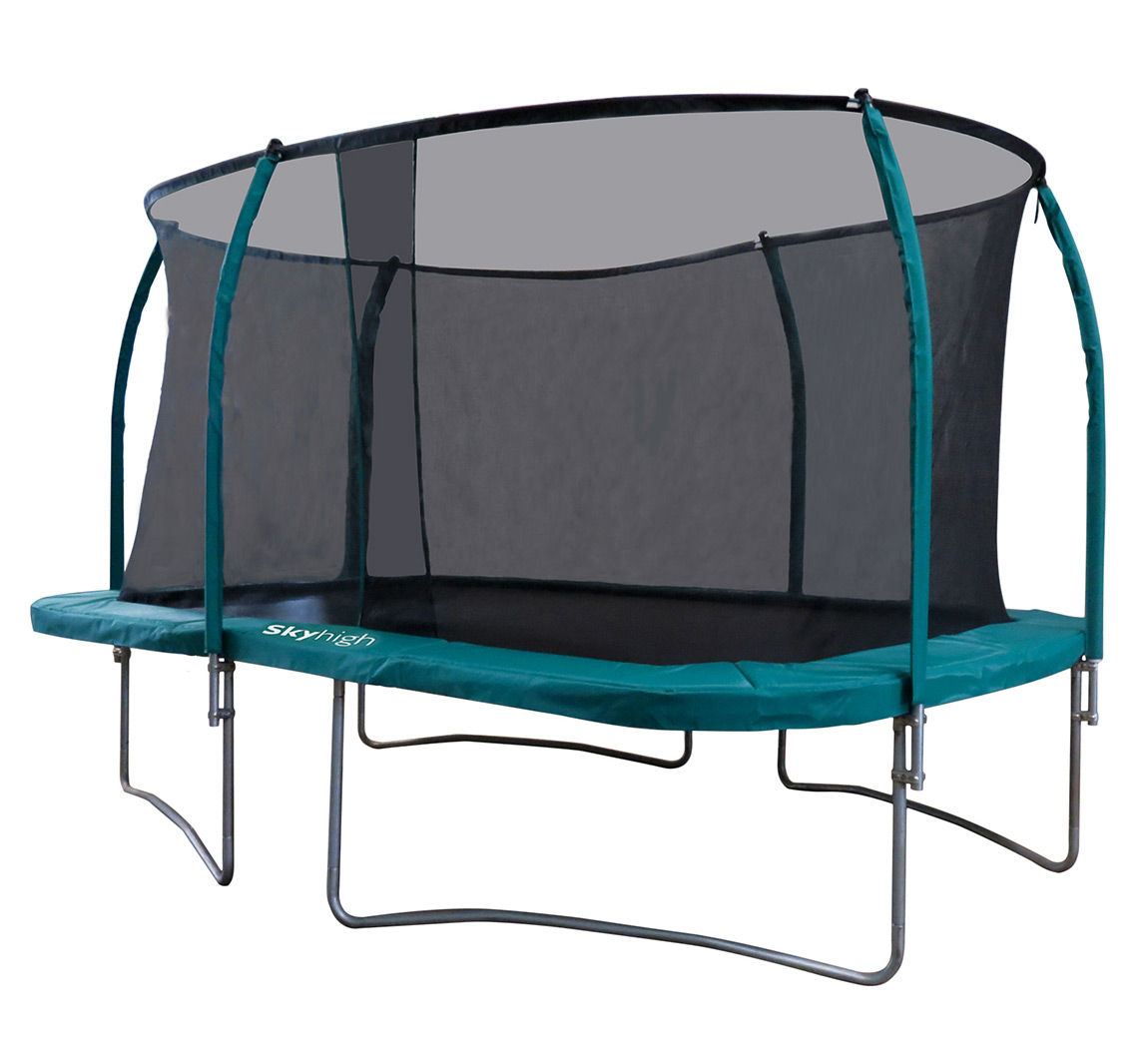 10ft X 14ft Skyhigh Rectangular Trampoline And Enclosure