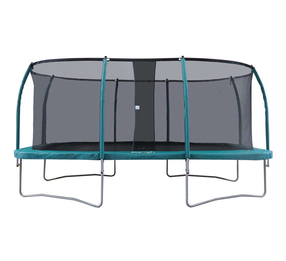10ft X 17ft Rectangular Trampoline With Enclosure