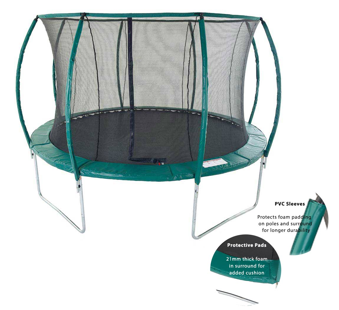 12ft Trampoline With Enclosure And Ladder. Skyhigh Orbisphere