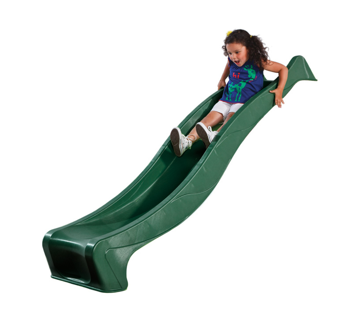 2 3m Green Childrens Wavy Slide 2 3m Garden Slide