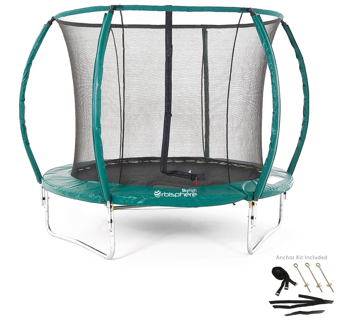 8ft Trampoline With Enclosure, Anchor Kit And Ladder