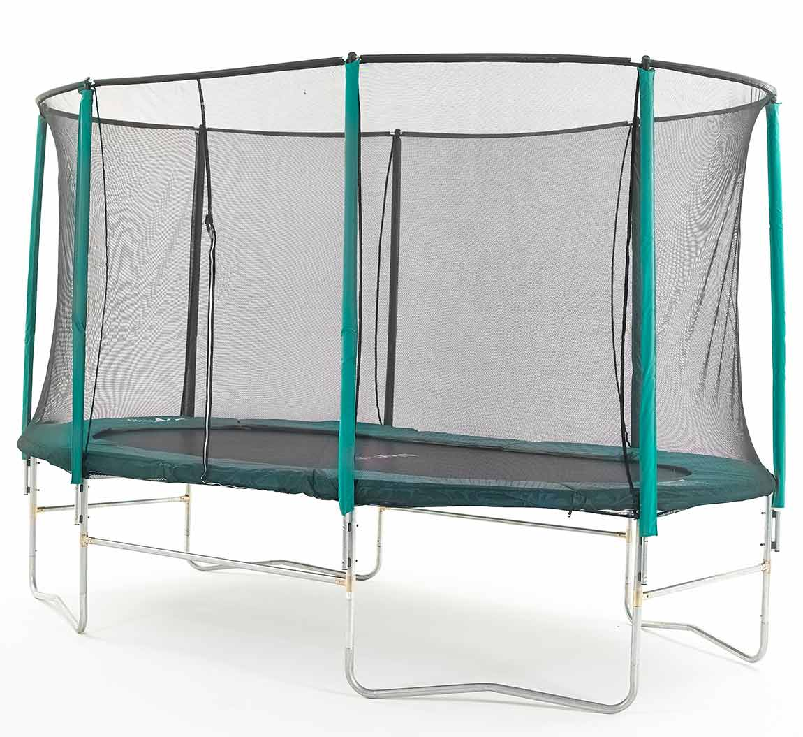 8ft X 14ft Skyhigh Oval Trampoline And Safety Enclosure