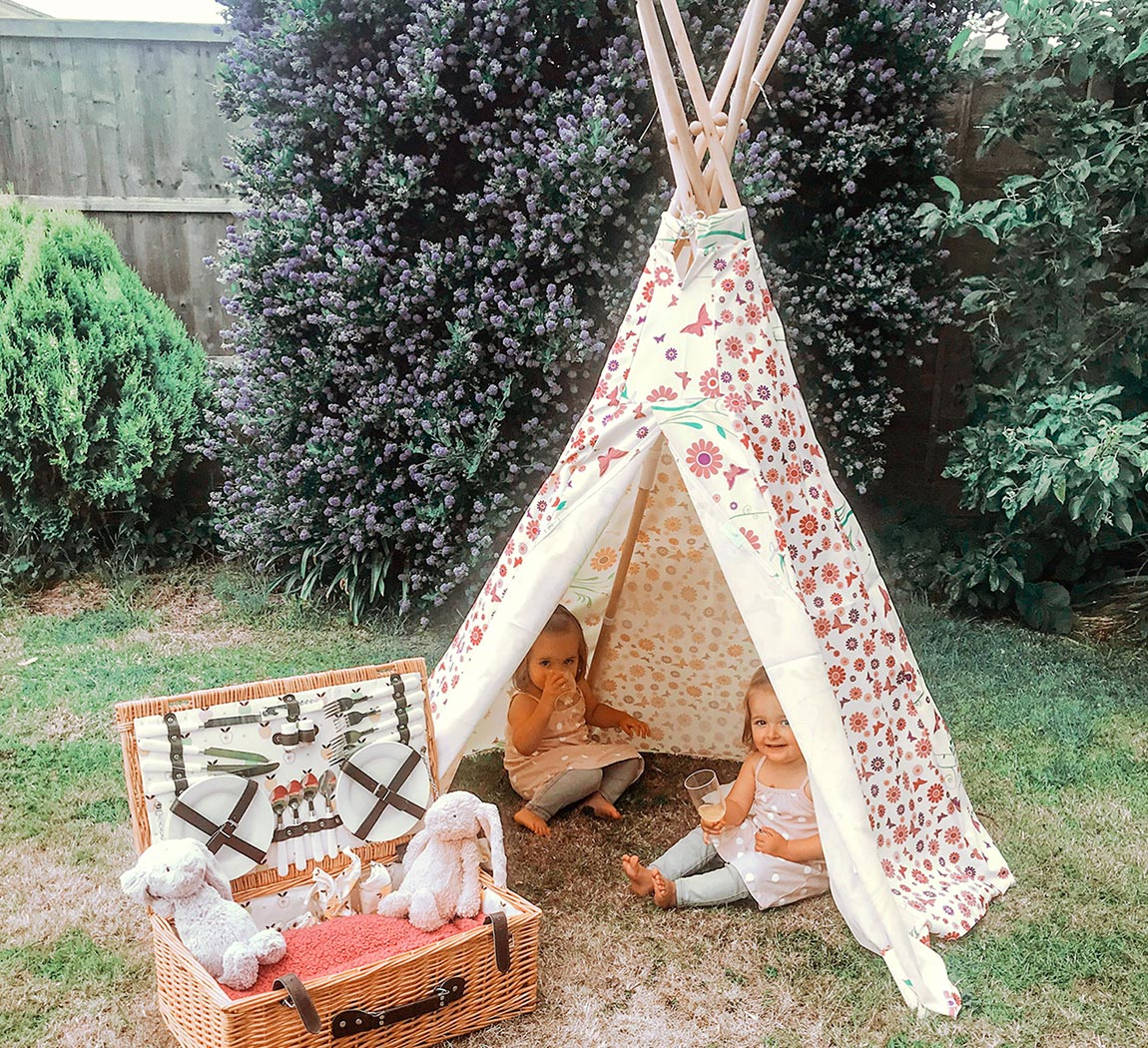 flower and butterfly teepee wigwam play tent