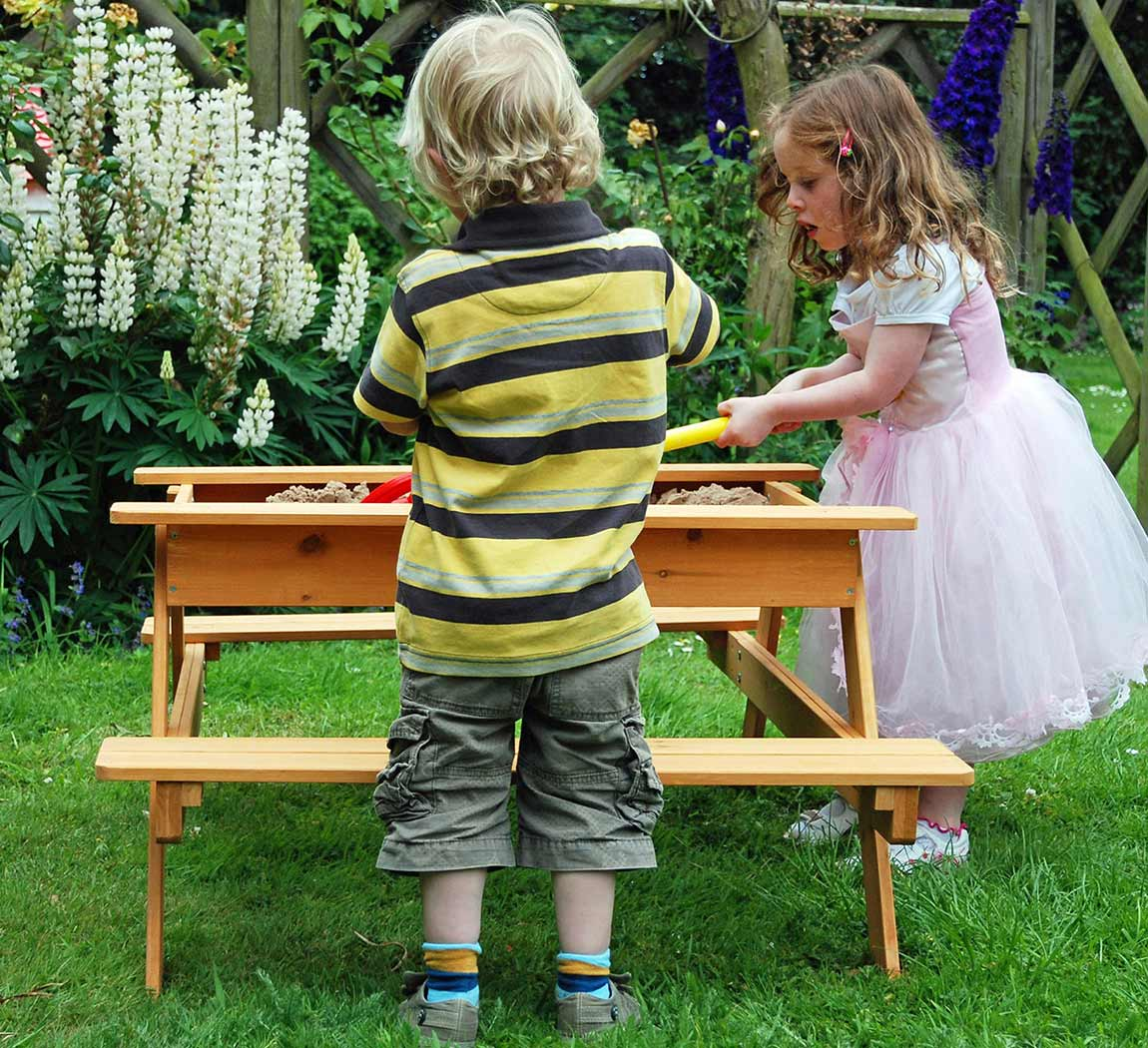 Astonishing Picnic Table Sandpit Garden Games Picnic Table Sandpit Pabps2019 Chair Design Images Pabps2019Com