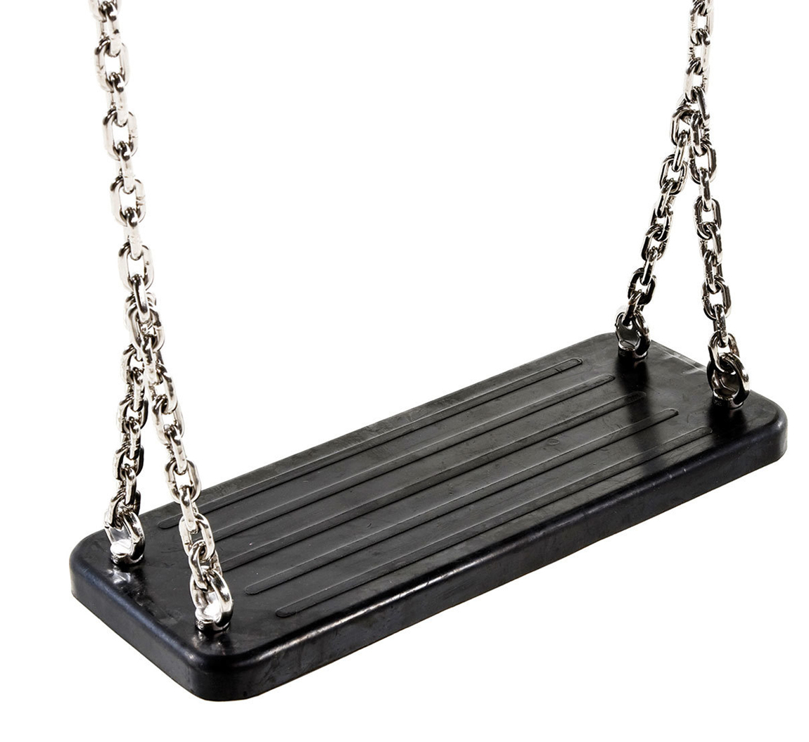 Rubber Swing Seat With Steel Chains Heavy Duty Rubber