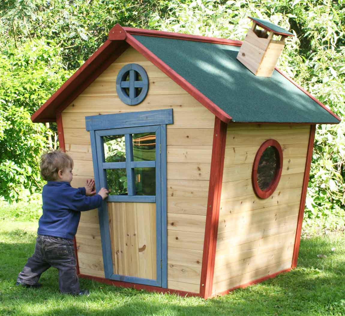 Redwood Lodge Wooden Playhouse