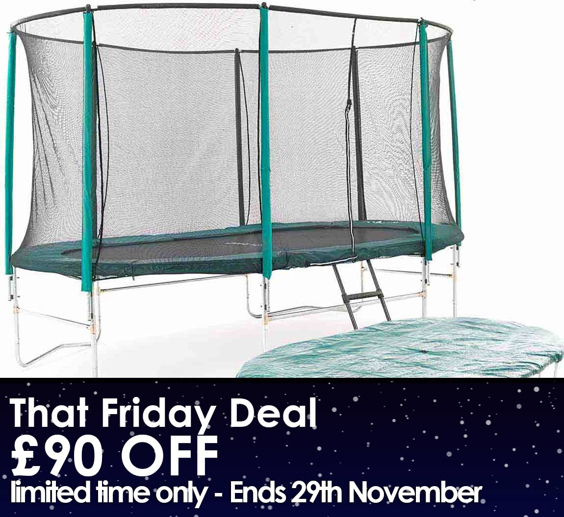 10ft x 15ft Oval Trampoline Package